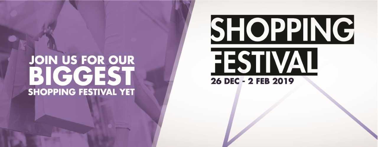 shopping festival banner
